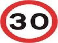 30 mph sign