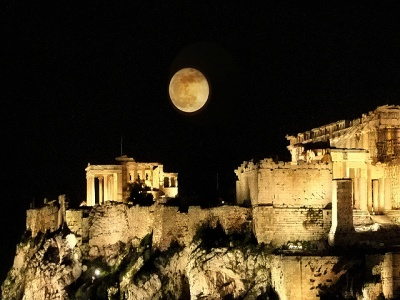 acropolis full moon