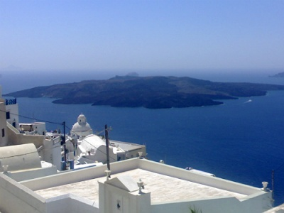 Across the Santorini caldera