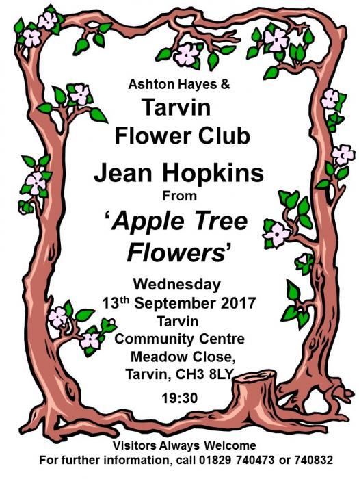 AH & T Flower Club Poster Sep 2017