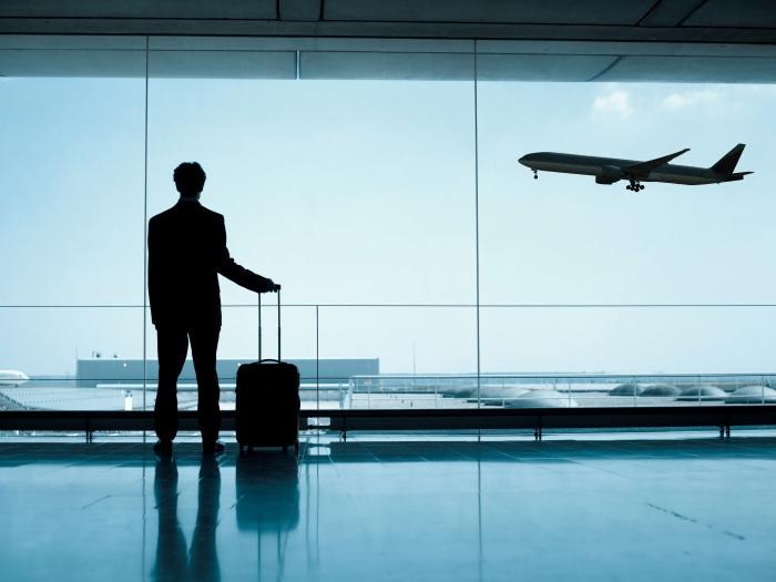 airport plane takeoff luggage passenger