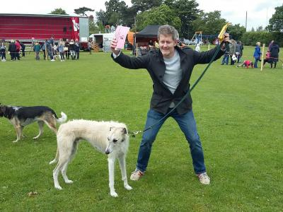 An Excited Prize Winner at 2017 Tarvin Fete