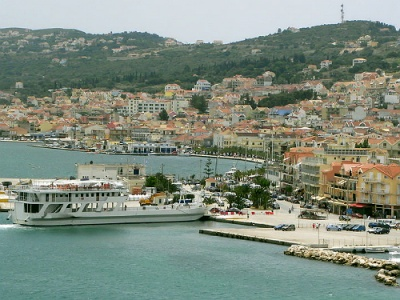 Argostoli harbour on Kefalonia