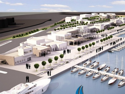 Artists impression of new marina