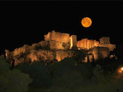 August full moon acropolis