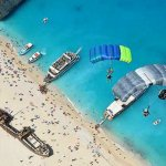 Base jumping on Zante