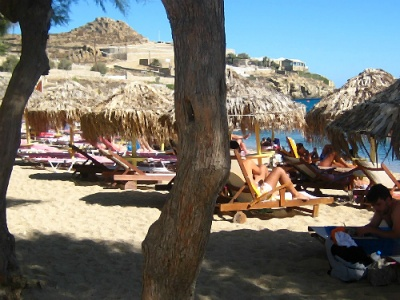 Beach on Mykonos Greece