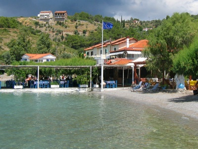 Beach taverna on Samos