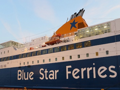 Blue star greek ferry ferries