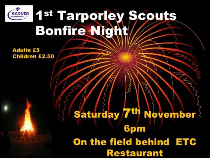 Bonfire at Tarporley 2015