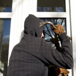 Burglar opening window