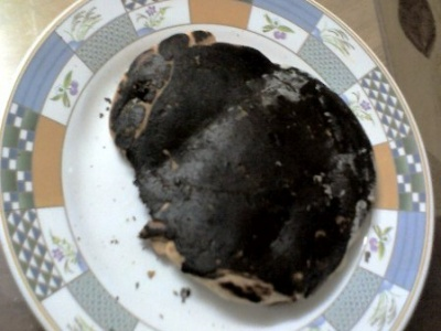 burnt pancake
