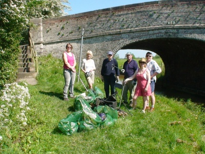 Canal Litter picking  June 2012