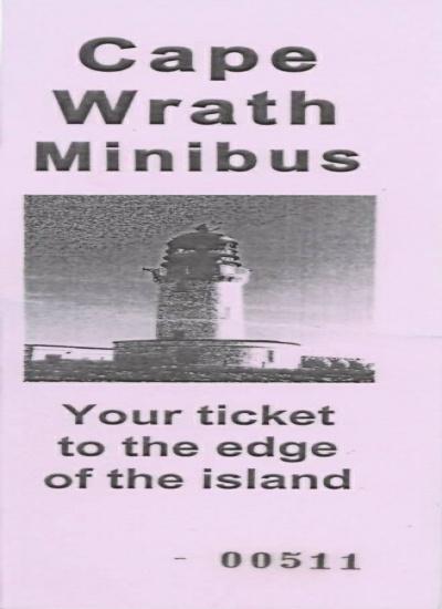 Cape Wrath ticket
