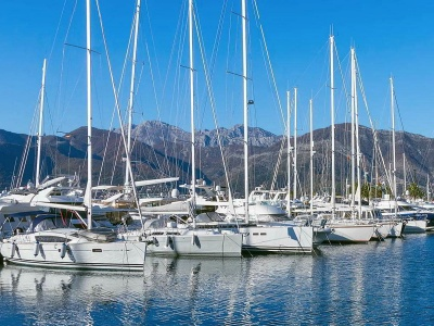 charter yachts in harbour