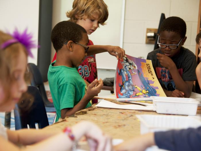 children, group, activity