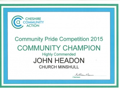 Community Champion cert