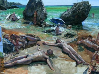 Corfu beach painting