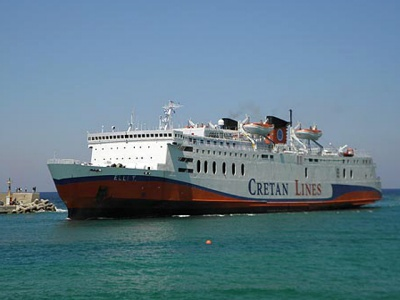 Cretan Lines runs ferries from Crete