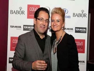 Deborah Cope with Director of TOP MODEL