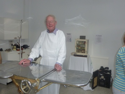 Dr Campbell in 1920 Style Operating Theatre