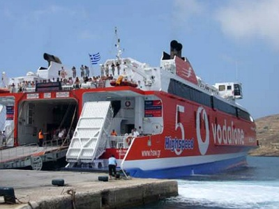 Greek island ferries stay in port