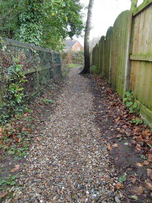 Footpath after