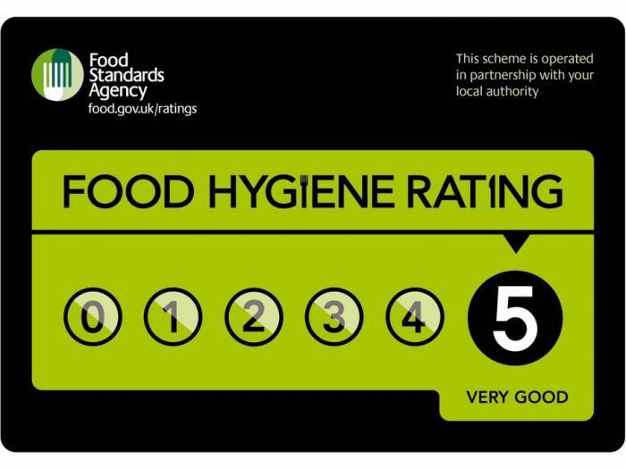 G & D food hygiene rating