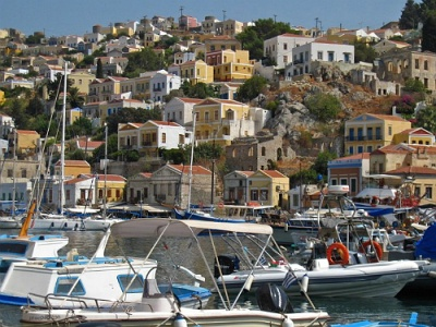 Gialos harbour on Symi