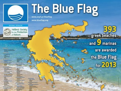 Greece Blue Flag awards 2013