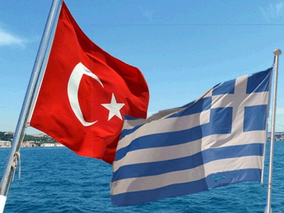 Greece Turkey flags