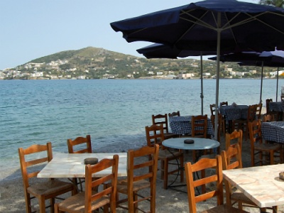 Greek beach taverna