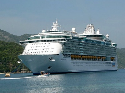 Greek island cruise ship