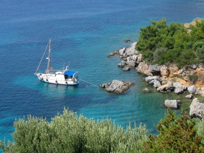 Greek Island yacht