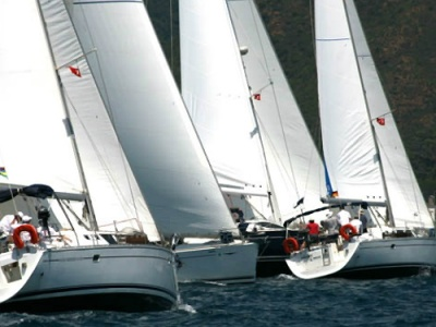 Greek racing yachts compete