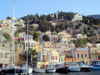 Harbour at Symi Greece