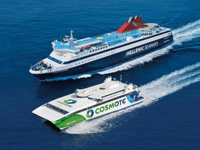 Hellenic Seaways two ferries