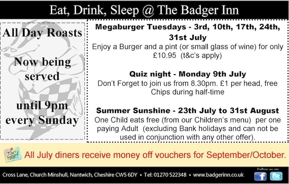 July 2018 Badger