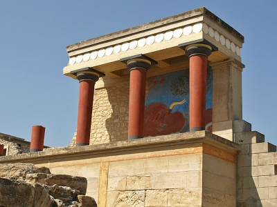 Knossos site on Crete