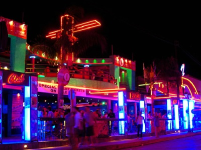 Laganas nightclub strip