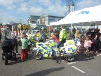 Little Boys versus Big Police Motor Bikes