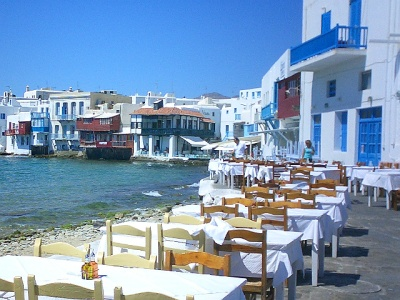 Mykonos island waterfront