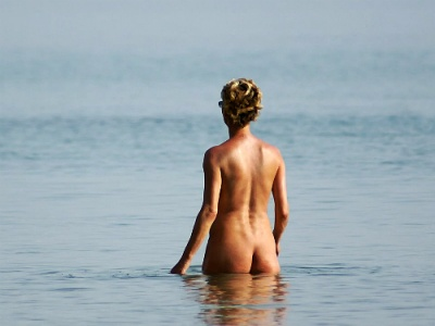 Nude on Naxos beach