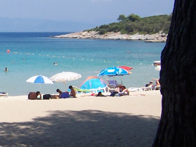 Paliouri beach on Halkidiki