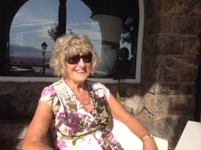 Pam in spain at 84