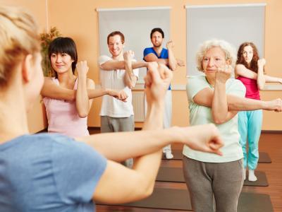 pilates, exercise, class, yoga