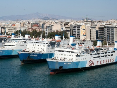 Piraeus Port of Athens Greece
