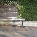 Platts Lane - new sign
