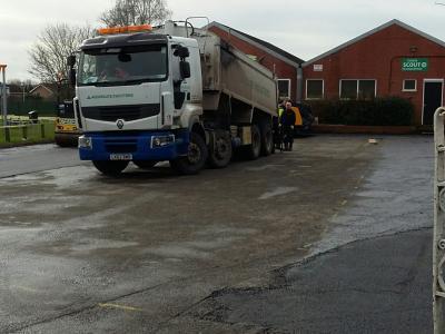 Playing Field - resurfacing work on car park
