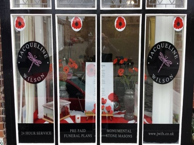 Poppy window display